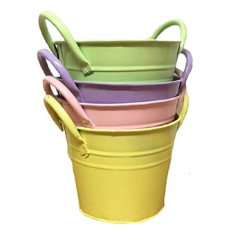 ZINC COLOURED BUCKETS X 4