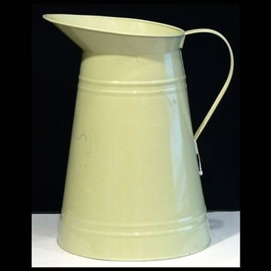 Zinc Coloured Jug - Apple Green