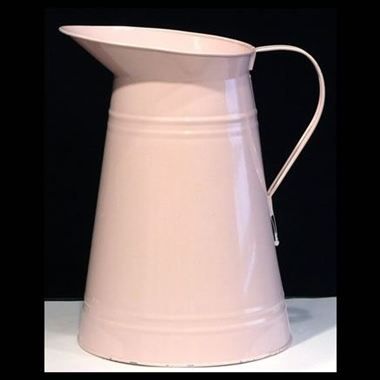 Zinc Coloured Jug - Baby Pink