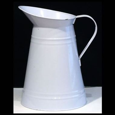 Zinc Coloured Jug - Baby Blue