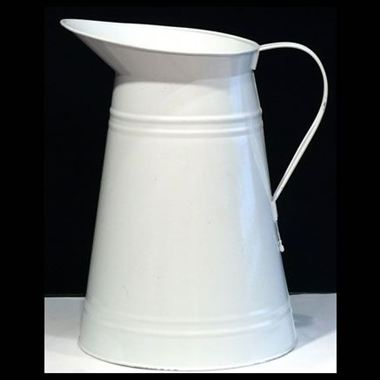 Zinc Coloured Jug - White