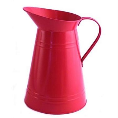 Zinc Coloured Jug - Hot Pink