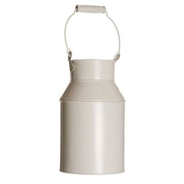 Zinc Coloured Milk Churn - Cream